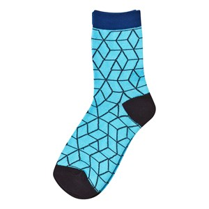 Image of Nova Star 2-Pack Blue Cube Socks 25-27 (2-4 år) (3035569821)