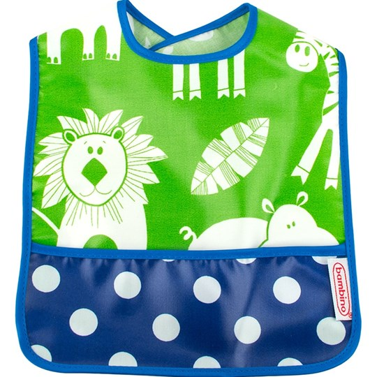 BAMBINO Eat-n-Play Bib Green Jungle/Blueberry Green
