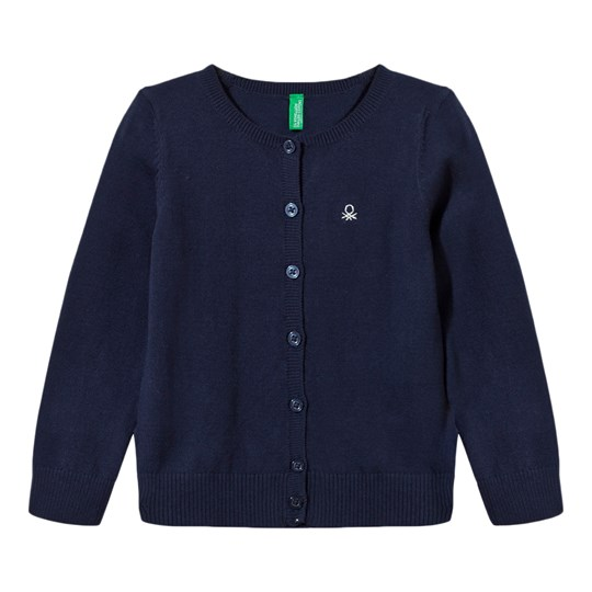 United Colors of Benetton Knitted Cardigan With Sparkling Logo Navy Navy