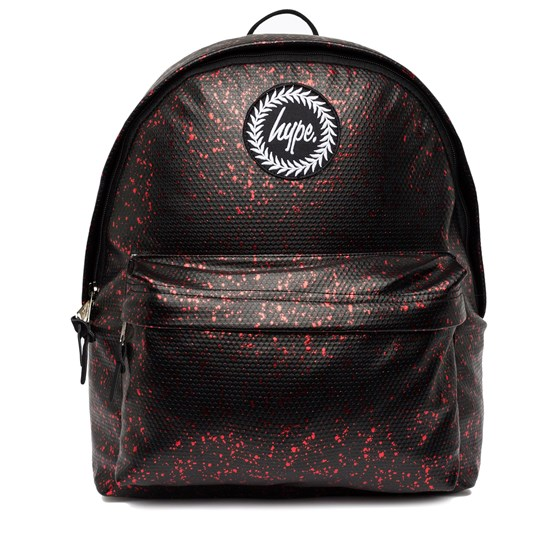 Hype Black and Red Flake Backpack Black/red