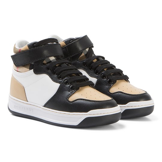 Burberry Beige Duke Leather High Top Trainers A1420