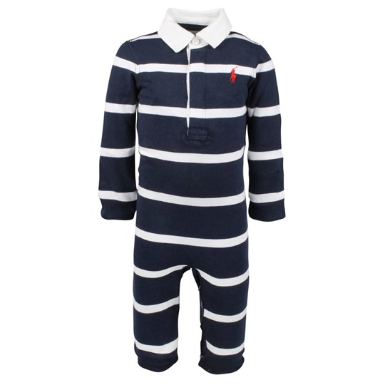 Ralph Lauren Stripe Rugby Coverall French Blue