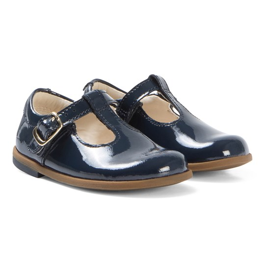 Clarks Drew Shine Shoes Navy Patent Navy Patent