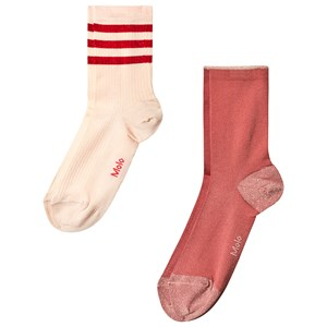 Image of Molo 2-Pack Nella Socks Pearled Ivory 17-19 (6-9 mdr) (3125328331)