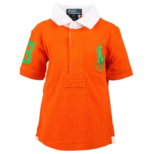 Ralph Lauren SS Polo Woven Collar Sailing Orange