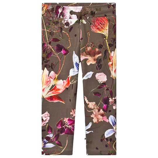 Molo Antonia Soft Pants Evergreen Flowers Evergreen Flowers