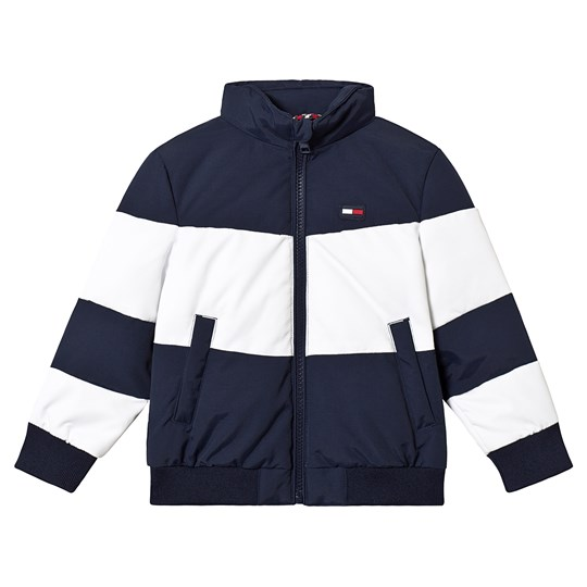 Tommy Hilfiger Navy and White Padded Jacket 002