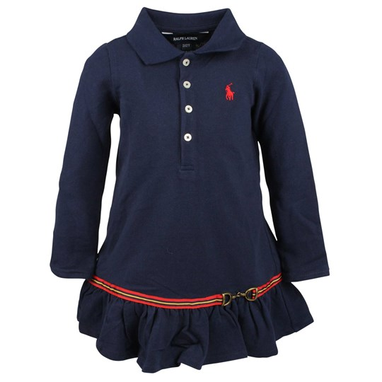 Ralph Lauren LS Polo Dress Newport Navy Blue