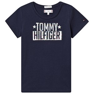 Image of Tommy Hilfiger Navy Foil Logo Tee 4 years (3125310041)