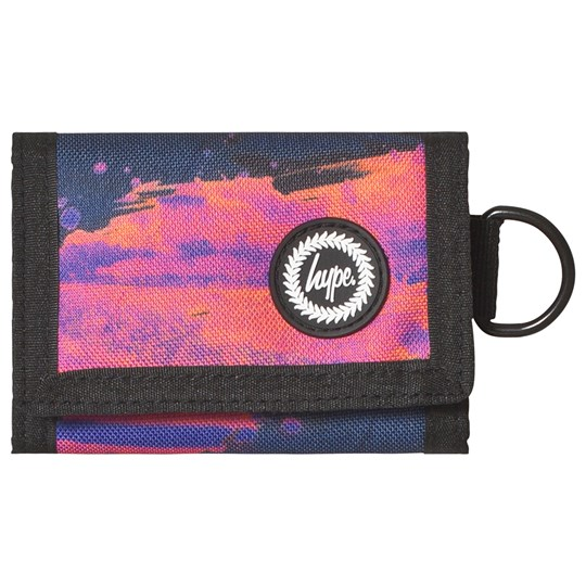 Hype Sunset Paint Wallet Navy/Pink