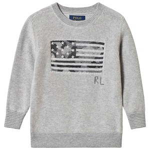 Image of Ralph Lauren Grey Flag Knit Sweater 3 years (3125359671)