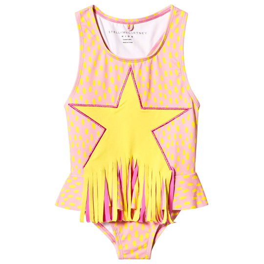 Stella McCartney Kids Star Fringe Baddräkt Rosa 6649 - Painted Dots On 4bas
