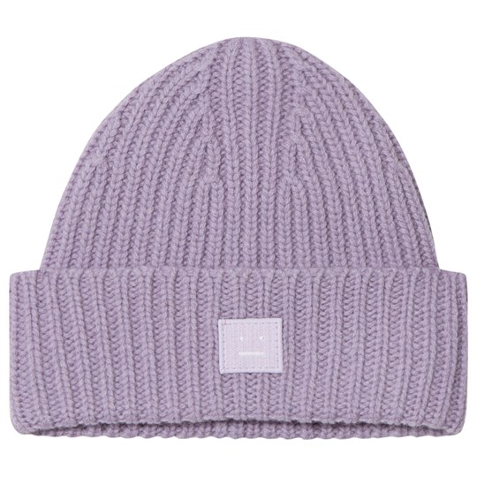 Acne Studios Mini Pansy Face Beanie Mauve Purple Mauve purple