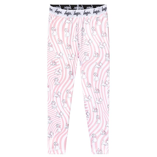 Hype Hype x Disney Marie Leggings Rosa Pink/White
