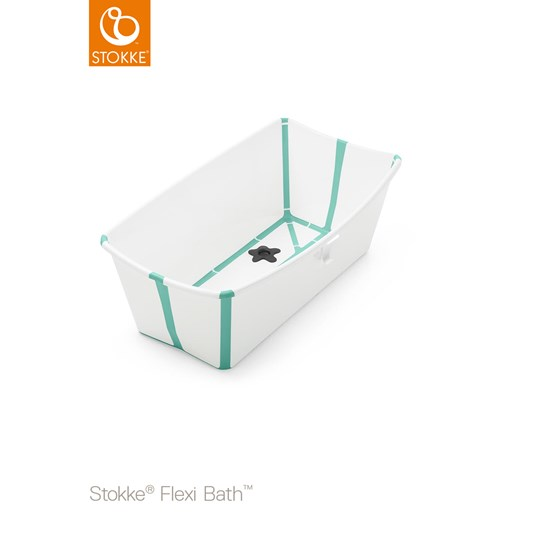 Stokke Flexi Bath® Bundle Tub with Support White/Aqua White Aqua