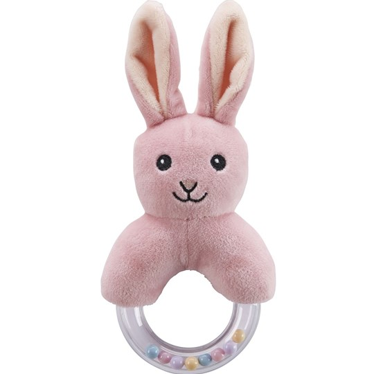 Kids Concept Rabbit Character Teething Rattle Pink