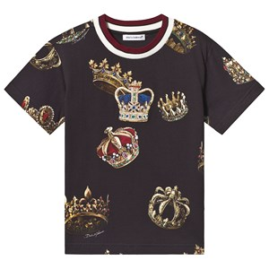 Image of Dolce & Gabbana Black Crown Applique Tee 10 years (3125321179)