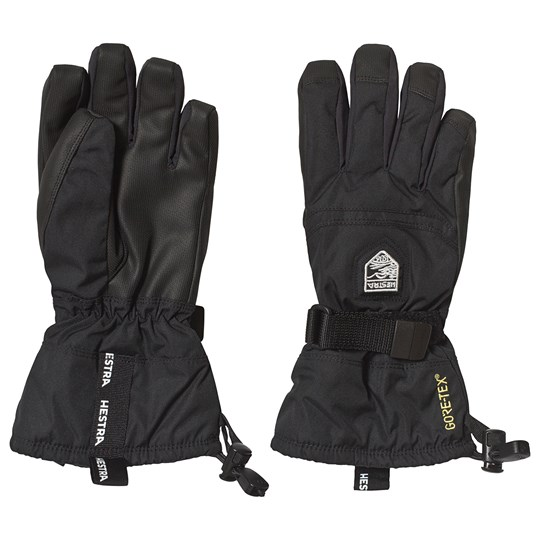 Hestra Black Gauntlet Gloves 100