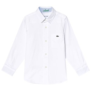 Image of Lacoste Classic White Poplin Shirt 4 years (3000208331)