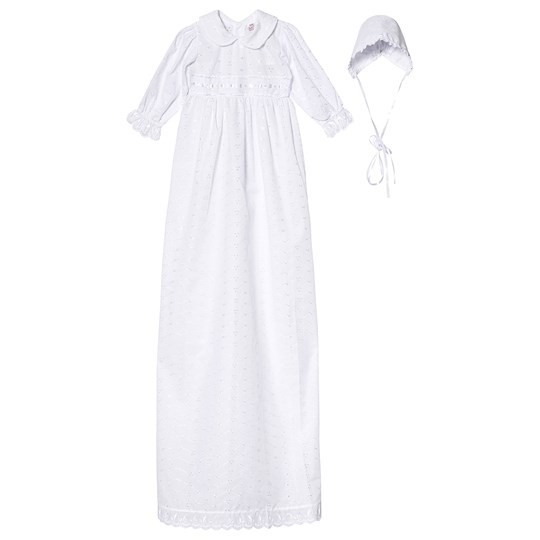 Jocko Christening Dress 120 cm with Hat White Multi