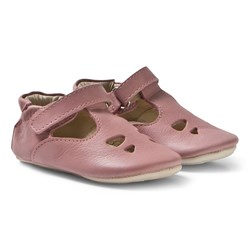 Young Soles Pink Nubuck T Bar Baby Shoes