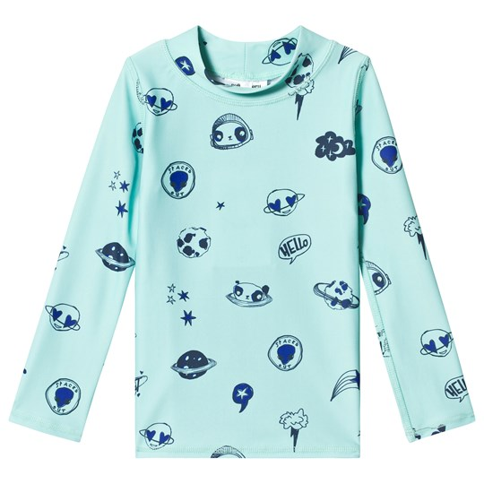 Soft Gallery Astin Sun Shirt Ocean Wave/Space Swim Ocean Wave Space Swim