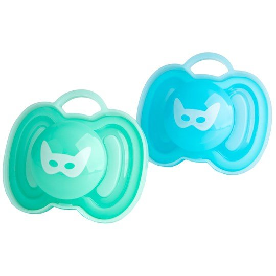Herobility 2-Pack HeroPacifier Blue/Turquoise 0m+ Green