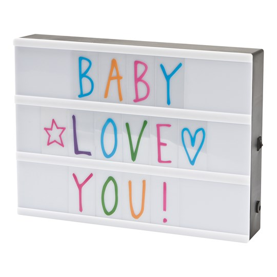 JOX Lights Lightbox with 85 Letters Color