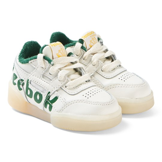 6d93e6484e90 The Animals Observatory White and Green TAO Workout Plus Infant Sneakers 048