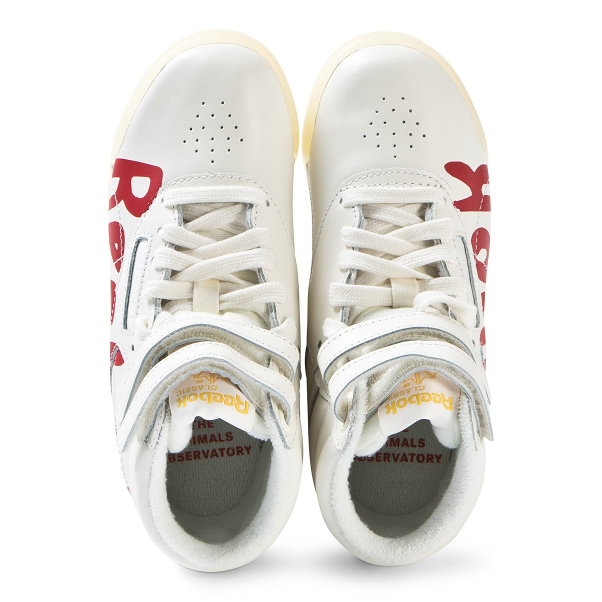 6b235c1db22 The Animals Observatory - White and Red Logo TAO Freestyle Hi-Tops -  Babyshop.com