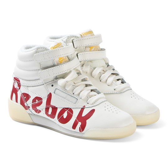 41602bf4101 The Animals Observatory - White and Red Logo TAO Freestyle Hi-Tops ...