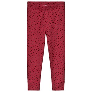 Image of Anïve For The Minors Burgundy Leggings Tiny Dots 2 år (3125326879)