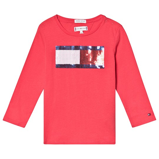 Tommy Hilfiger Red Flag Sequin Long Sleeve Tee 616