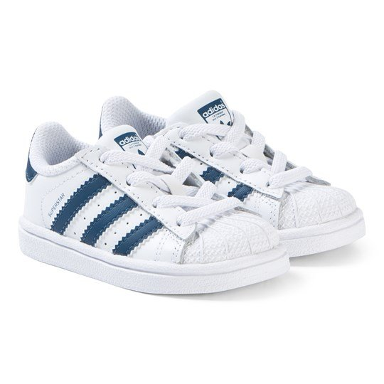 adidas Originals Superstar Velcro Sneakers White and Navy ftwr white/ftwr white/legend marine