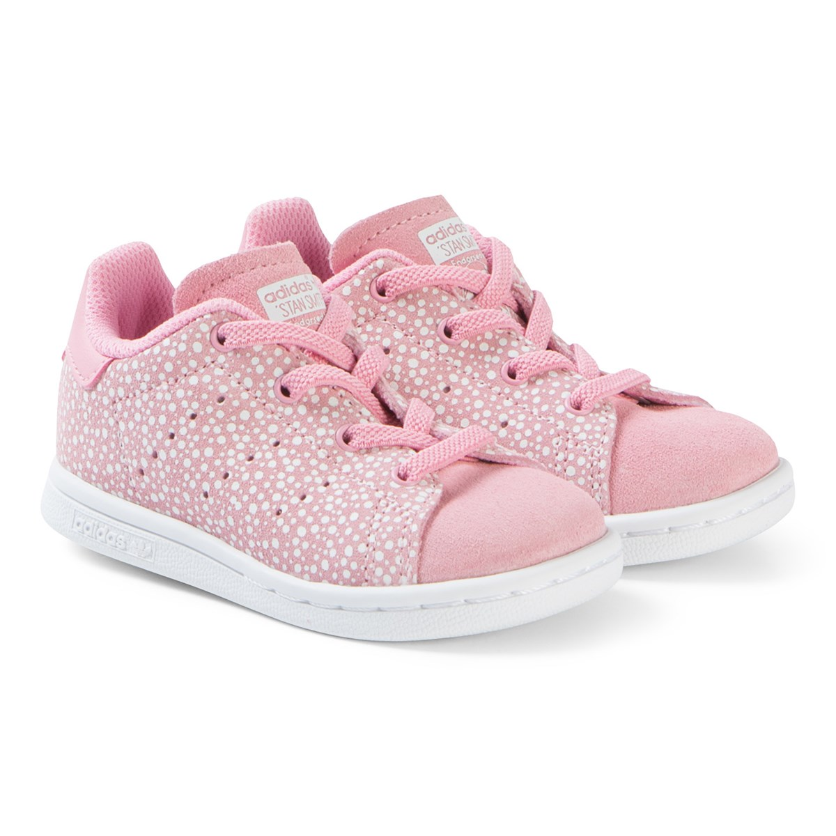 sale retailer a8267 72d6b adidas Originals - Pink and White Stan Smith Sneakers - Babyshop.com