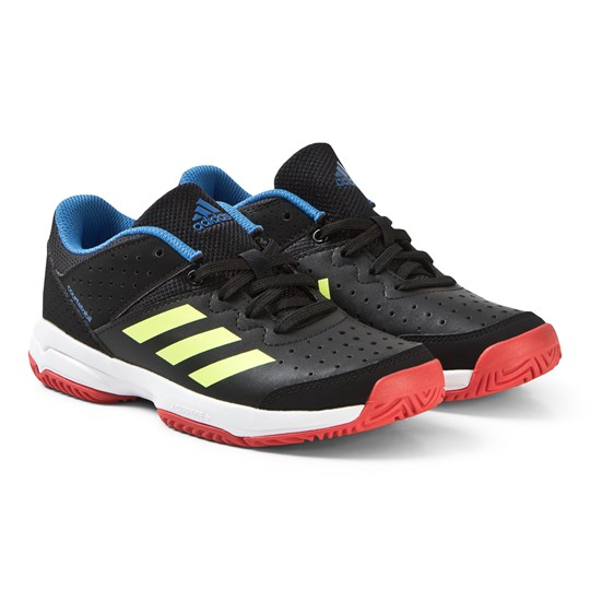 adidas Performance Black Court Stable Sneakers core black/hi-res yellow/active red