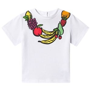 Image of Stella McCartney Kids Fruit Necklace T-Shirt White 6 months (3125272985)