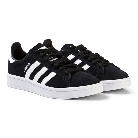 adidas Originals Black Junior Campus Sneakers CORE BLACK/FTWR WHITE/FTWR WHITE