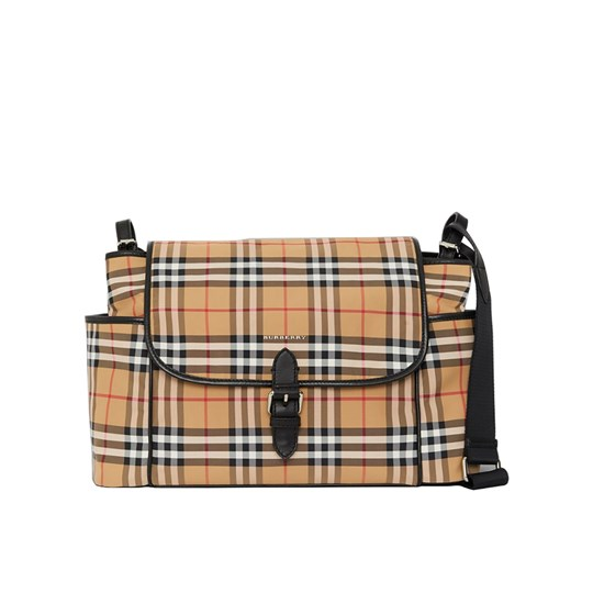 Burberry Vintage Check Changing Bag Antique Yellow and Black A2442