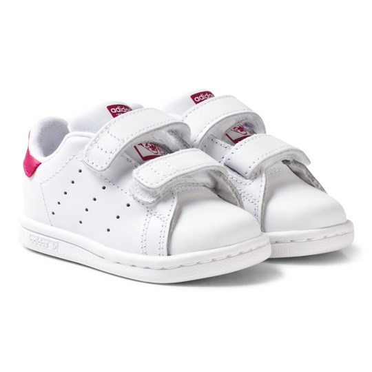 new styles e2de8 7667e adidas Originals - White and Pink Stan Smith Infant Trainers ...