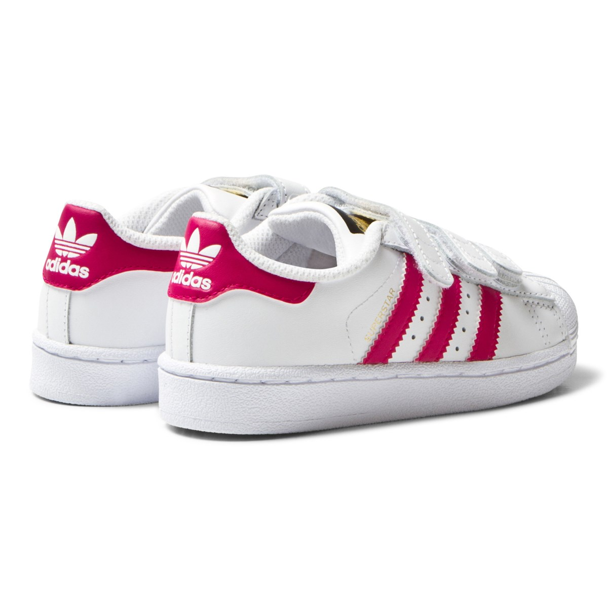 adidas Originals Superstar Borrelås Sko Hvit og Rosa