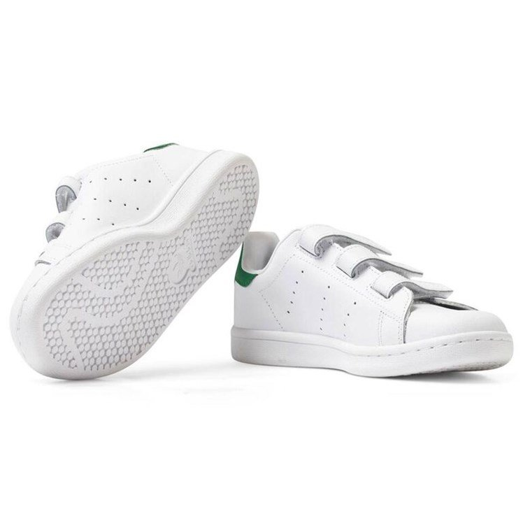 adidas Originals Stan Smith Borrelås Sko Hvit Babyshop.no