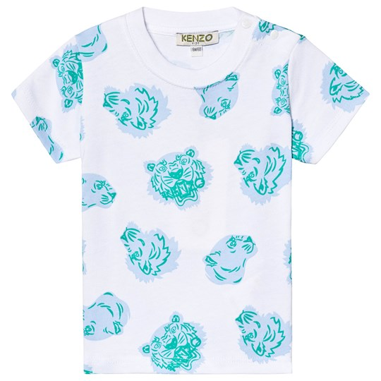Kenzo White All Over Tiger Print Tee 01