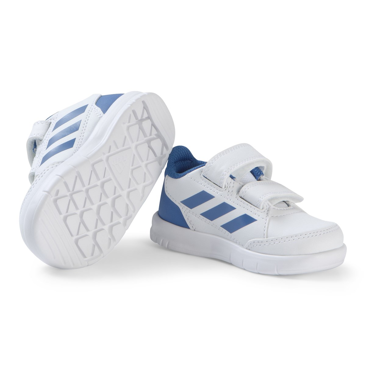 adidas Performance White and Blue AltaSport Velcro Infants Sneakers