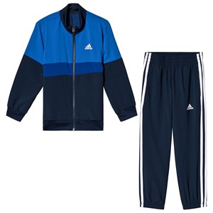 Image of adidas Performance Navy and Blue Tracksuit 11-12 years (152 cm) (3125305387)