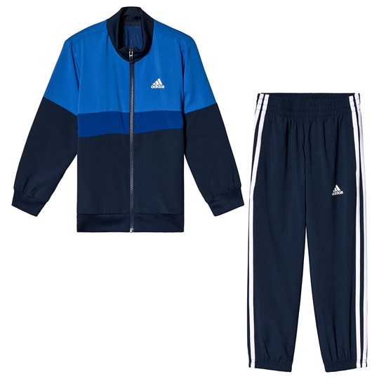 adidas Performance Navy and Blue Tracksuit Top:blue/collegiate navy/collegiate royal/white Bo