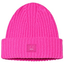 Acne Studios Mini Pansy Face Beanie Bright Pink