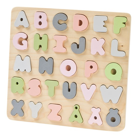 STOY Wood ABC Puzzle Beige