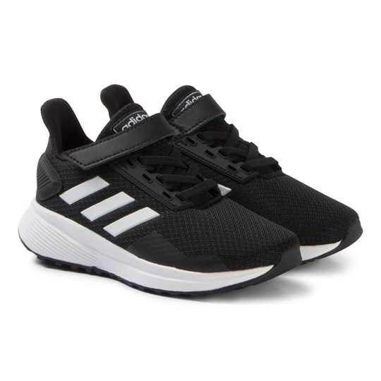 adidas Performance Black Duramo 9 Velcro Kids Running Trainers CORE BLACK/FTWR WHITE/CORE BLACK