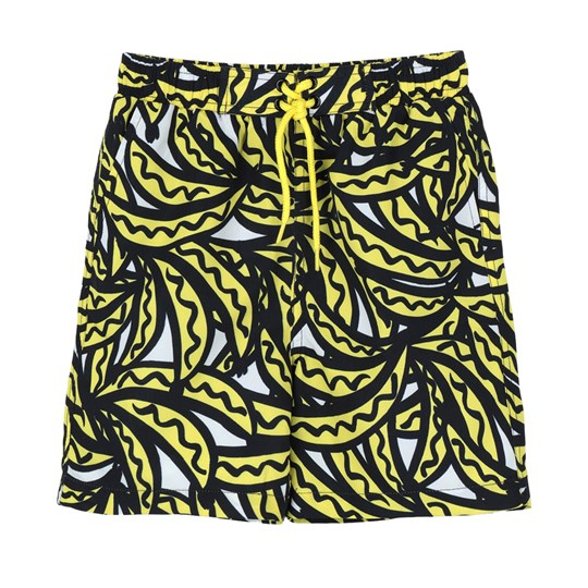 Stella McCartney Kids Black Banana Swimshorts 7340 - Bananas Aop